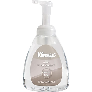Kleenex Alcohol Free Foam Hand Sanitizer Gel, 16 oz.