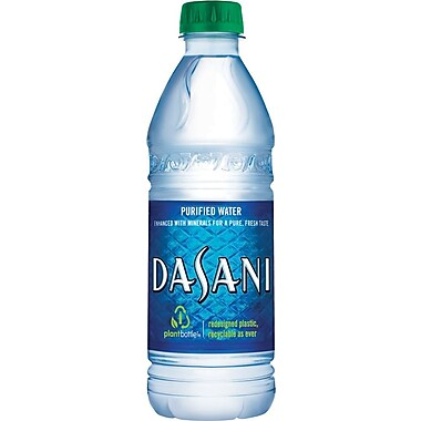 Dasani Water, 500mL Bottles, 24/pack