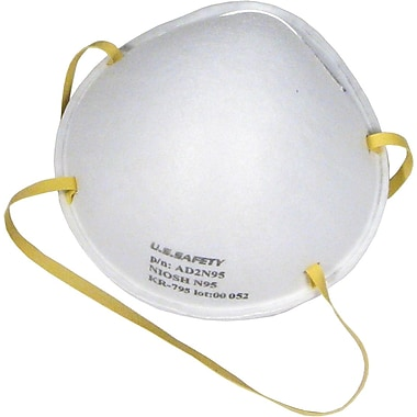 US Safety N95 Disposable Respirators, 20 per Box