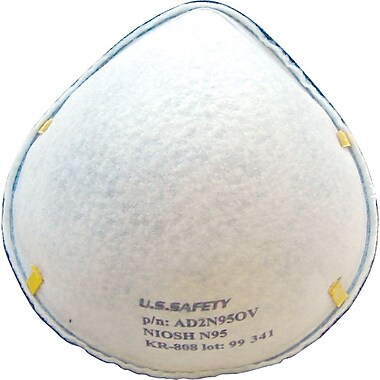 US Safety N95 Disposable Respirators, Sub-PEL, 20 per Box