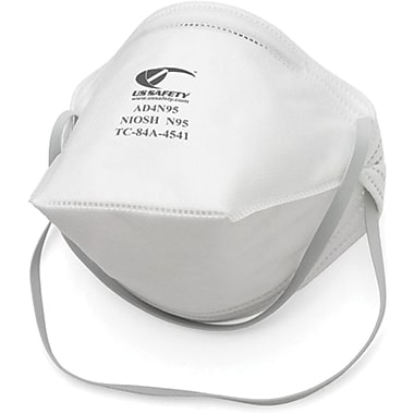 US Safety N95 Flat-Fold Disposable Respirators, 20 per Box