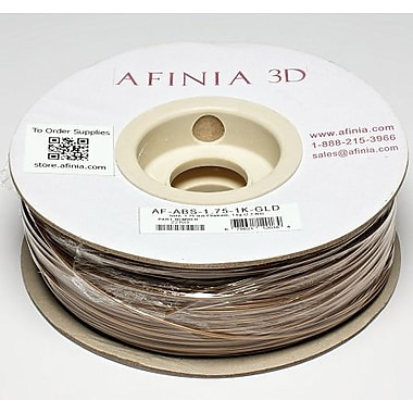Afinia 1.75 mm Value-Line Gold ABS Filament for 3D Printers
