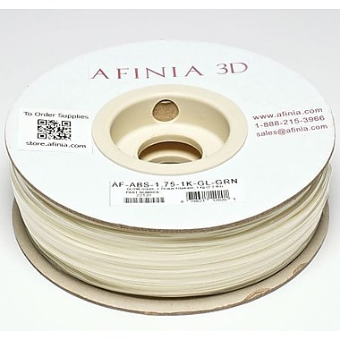 Afinia 1.75 mm Value-Line Glow-in-the-Dark Green ABS Filament
