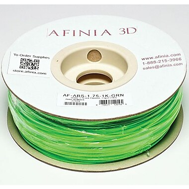 Afinia 1.75 mm Value-Line Green ABS Filament