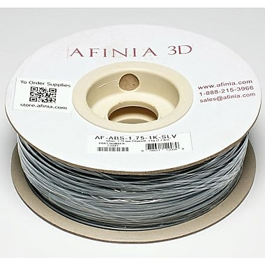 Afinia 1.75 mm Value-Line Silver ABS Filament