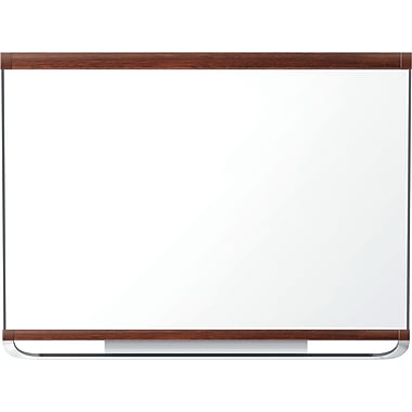 Quartet® Prestige® 2 Magnetic Total Erase® Boards, Mahogany Frame