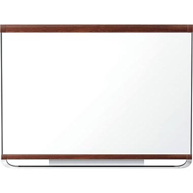 Quartet® Prestige® 2 Magnetic Total Erase® Board, Mahogany Frame, 96