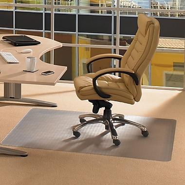 Floortex™ Polycarbonate Chairmat, Plush Pile Carpet, Rectangle with Lip, 48