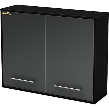 South Shore Karbon Wall Storage Cabinet, Charcoal & Black