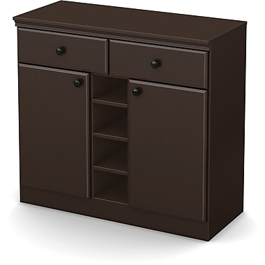 South Shore Morgan Storage Console, Chocolate