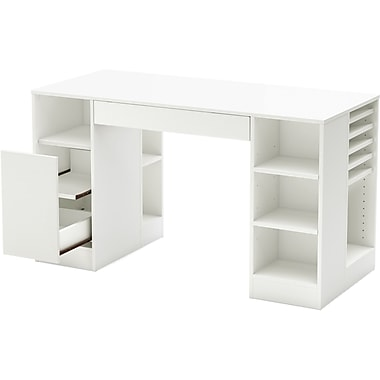South Shore Crea Craft Table, White