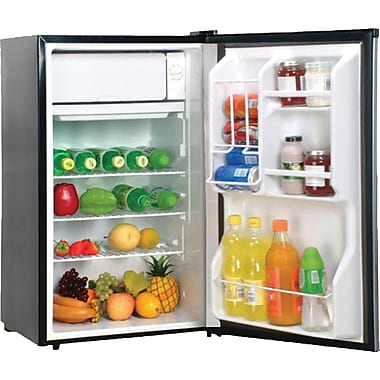 Magic Chef 3.6 CU. FT. Refrigerator with Clear Back, Stainless Steel