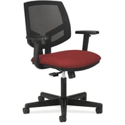 HON® Volt® 5700 Series 34.37 - 38.5H Fabric Mesh Mid Back Task Chair With Synchro Tilt, Crimson