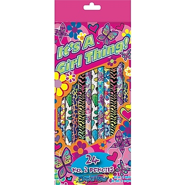DesignWay #2 It's A Girl Thing Pencils, 24/Pack