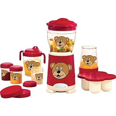 BELLA 18 Piece Baby Rocket Blender, Red