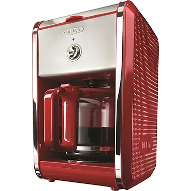 BELLA Dots Switch 12-Cup Coffee Maker, Red