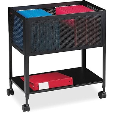 Lorell® Mobile Mesh File Cart, Black