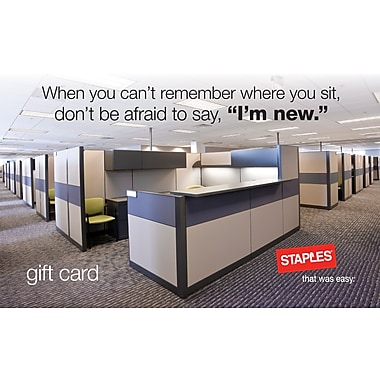 Staples® Welcome Gift Card $25