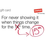 Staples® Changes Gift Card $50