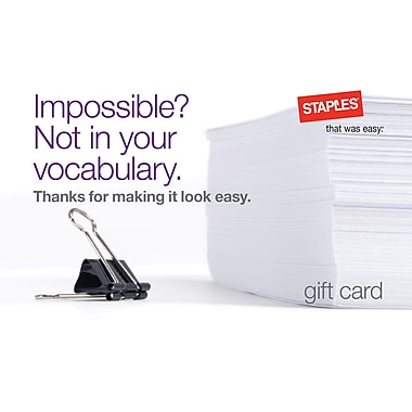 Staples® Impossible Gift Card $50