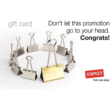 Staples® Promotion Gift Cards