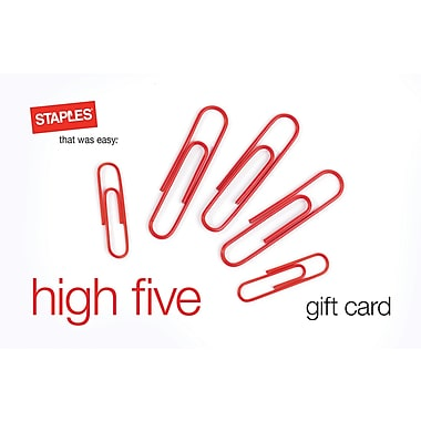 Staples® High Five Gift Card $100