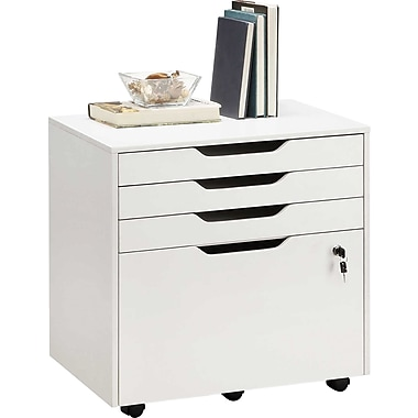Staples Integrate Commercial Mobile File, White Finish