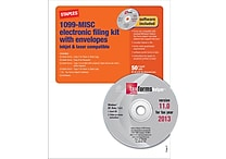 Staples® 2013 Tax Forms, 1099 Misc E File Tax Forms Software & Envelopes, 50/PK