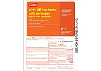 Staples® 2013 Tax Forms, 1099 Int Tax Forms w/ Env, 12/PK