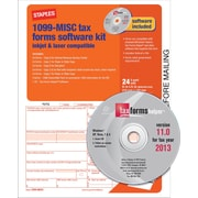 Staples® 2013 Tax Forms, 1099 Misc Tax Software Kit, 24/PK