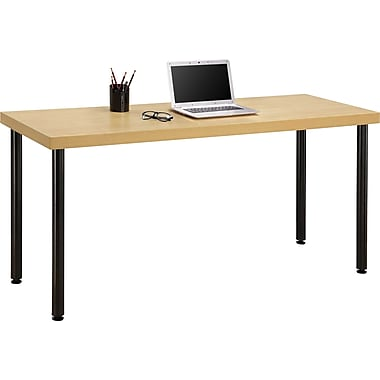 Staples Integrate Commercial Desk, Maple