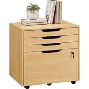 Staples® Integrate Commercial Mobile File, Maple