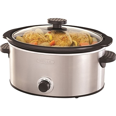 BELLA 5 Quart Programmable Slow Cooker (SS)