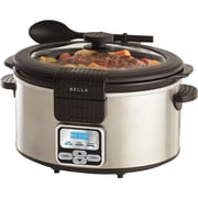 BELLA® 6 Quart Programmable Slow Cooker, Stainless
