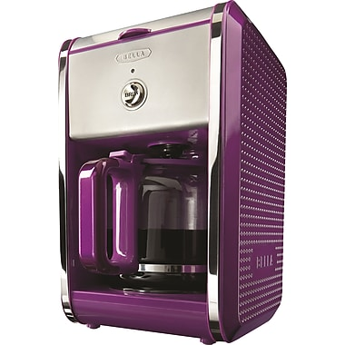 BELLA Dots Switch 12-Cup Coffee Maker, Purple