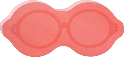 Post it Glasses Shaped Die Cut Memo Cube 2 Pads Pack