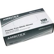 Ambitex® Nitrile Exam Gloves, Powder Free, Small, Black, 100/Bx