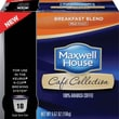 Maxwell House Café Collection Single Serve Coffee Breakfast Blend Coffee, Regular, 18/Pack