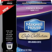 Maxwell House® Cafe Collection French Roast Single Serve Cups, 18/pk