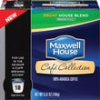 Maxwell House Café Collection K-Cup House Blend Coffee, Decaffeinated, 18/Pack