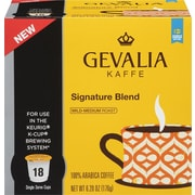 Gevalia Single Serve, Signature Blend Coffee, Regular, 18/Pack
