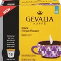 Gevalia K-Cup Dark Royal Roast Coffee, Regular, 18/Pack