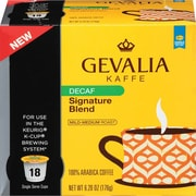 Gevalia Single Serve; Signature Blend Coffee, Decaffeinated, 18/Pack