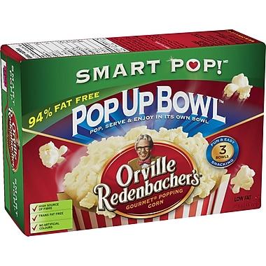 Orville Redenbacher's® - Maïs à éclater au micro-ondes SmartPop!®, bol à éclater Pop Up Bowl™, bte/3 sacs