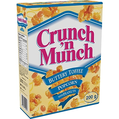 Crunch 'n Munch® Buttery Toffee Popcorn with Peanuts, 200 g