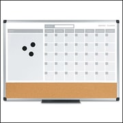 Mastervision 3 n1 Calendar Planner Board 18x 24, Alum. Frame