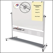 MasterVision® Magnetic  Dry Erase Mobile Rev. Pres. Easel 70x 47, Silver
