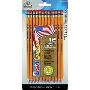 The Write Dudes USA Gold Cedar Yellow Pencils, No. 2, 12/Pk