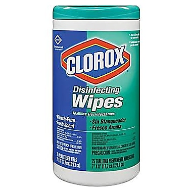 Clorox® Disinfecting Wipes, Fresh Scent, 75 Wipes/Tub