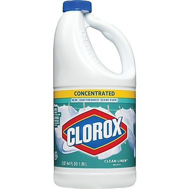 Clorox Scented Bleach, Concentrated Clean Linen, 64 oz